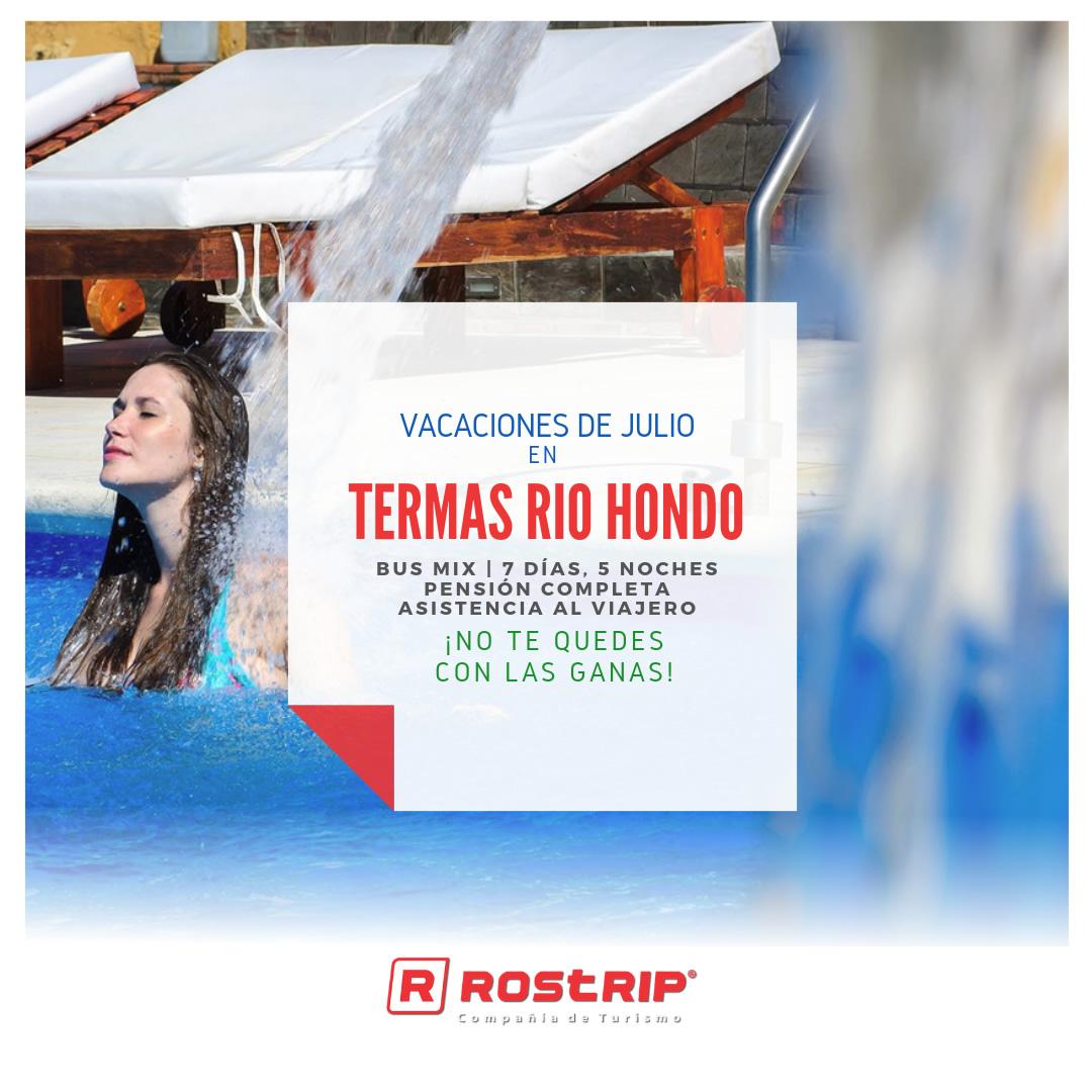 Termas de Rio Hondo - Vacaciones de Julio 2019 - Rostrip