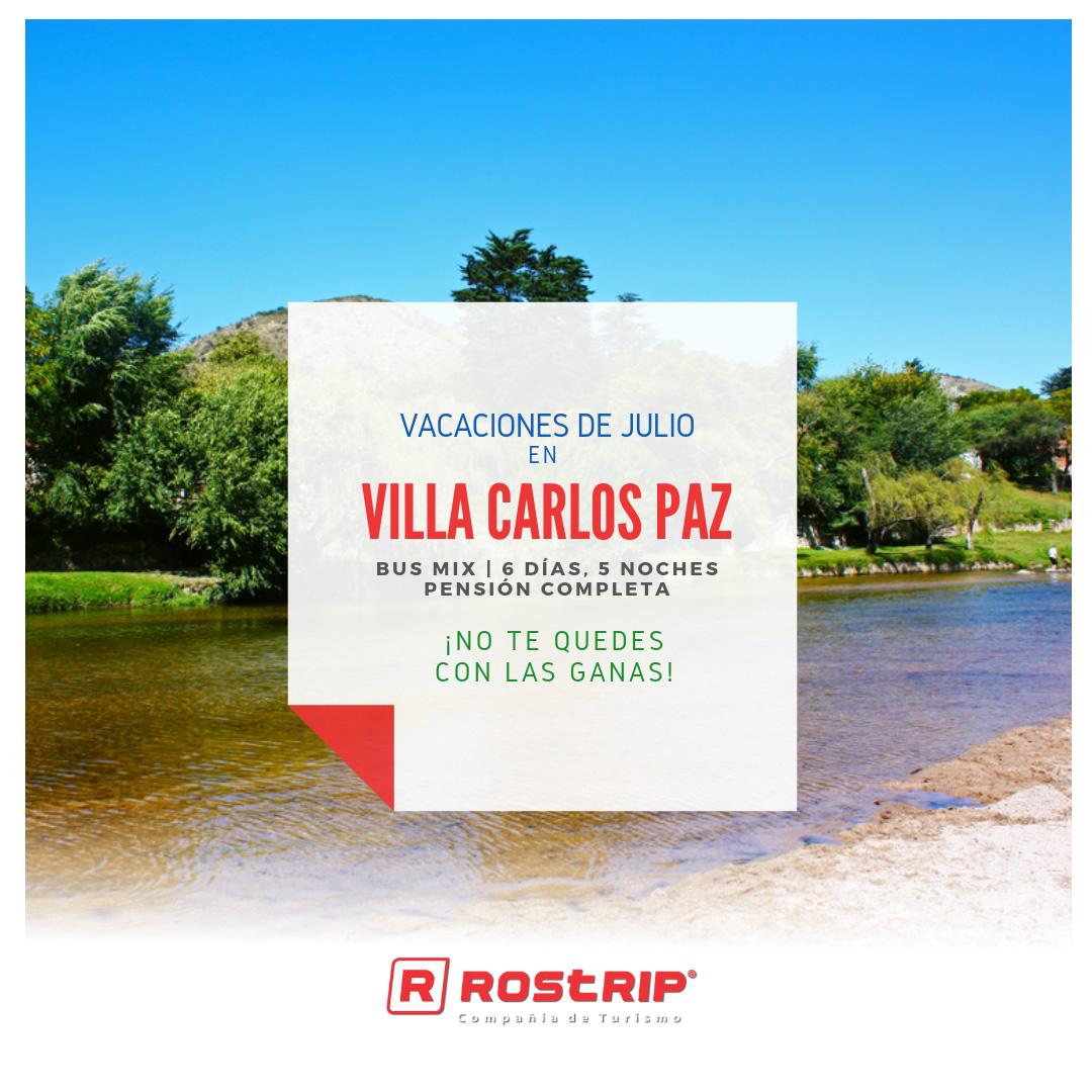 Villa Carlos Paz - Vacaciones de Julio - Rostrip